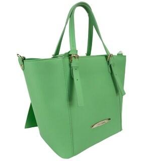 Pierre Cardin 1335 VERDE Green Structured Tote/Shoulder Bag