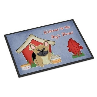 Carolines Treasures BB2764JMAT Dog House Collection French Bulldog Cream Indoor or Outdoor Mat 24 x 0.25 x 36 in.
