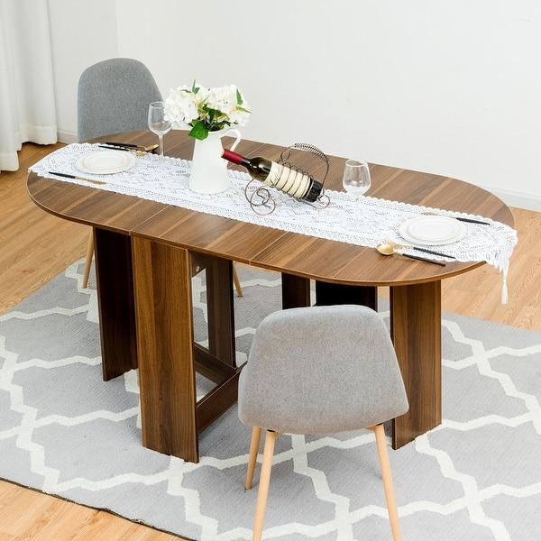 Shop Costway Folding Drop Leaf Dining Table Writing Desk ...