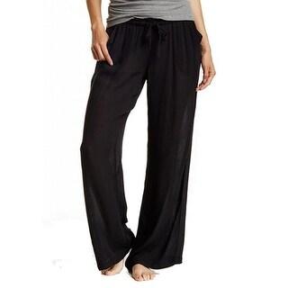 Free Press NEW Black Women's Size Small S Lounge Pants Drawstring Sleepwear