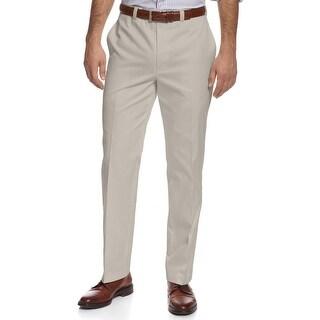 Ralph Lauren RL Cotton Flat Front Dress Pants Stone Beige Solid 40W x 30L - 40