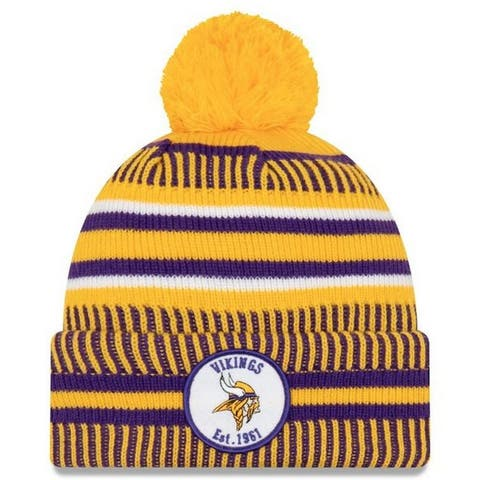 New Era 2019 NFL Minnesota Vikings Cuff Knit Hat Home REV Beanie Stocking Cap