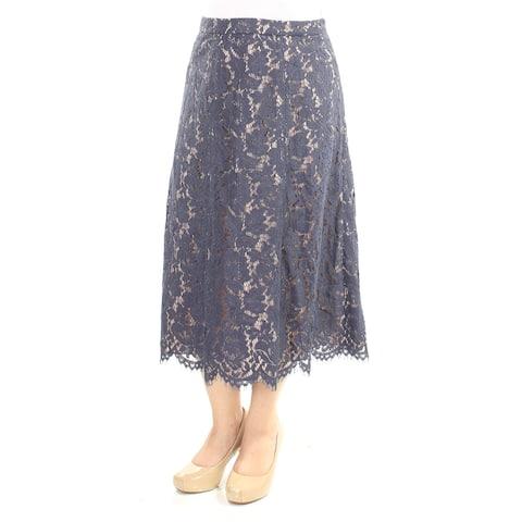 ANNE KLEIN Womens Blue Lace Midi A-Line Formal Skirt Size: 6