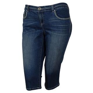 INC International Concepts Women's Regular Fit Denim Capri Pants