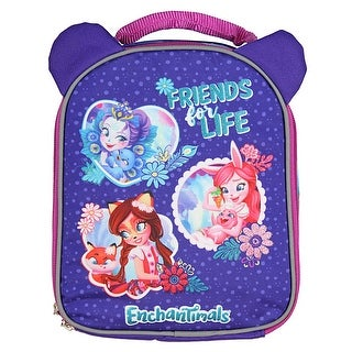 Enchantimals Dolls Lunch Box Soft Kit Insulated Cooler Bag Friends For Life