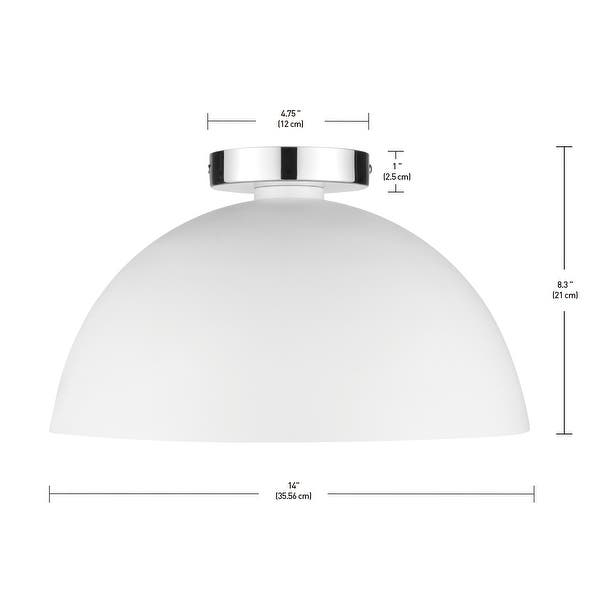 Novogratz X Globe Brady 1 Light Semi Flush Mount Ceiling Light Matte White Chrome Details Overstock 32063726