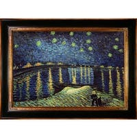 Starry Night Over the Rhone by Vincent Van Gogh Framed Hand Painted Oil on Canvas
