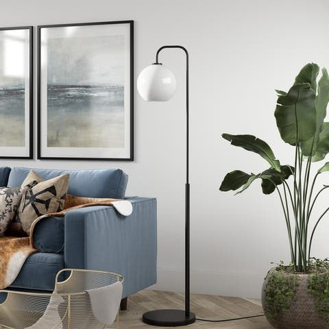 Harrison Arc Blackened Bronze Floor Lamp