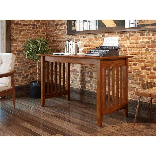 Atlantic Furniture Mission Walnut Wood Writing Desk. Opens flyout.