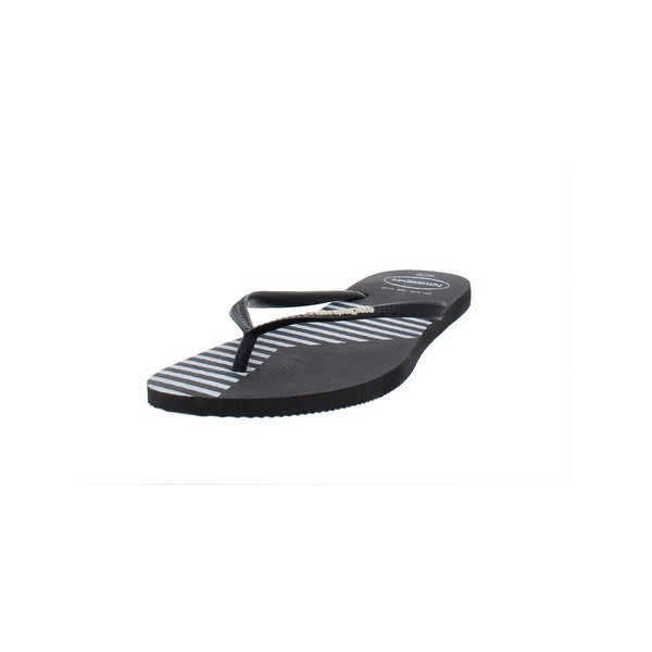 990a5a60d1b458 Havaianas Womens Slim Color Block Flip-Flops Thongs Beach - 9-10 Medium (