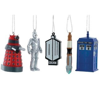 """Doctor Who 2.5"""" 5-Piece Ornament Gift Set"""