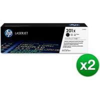 HP 201X High Yield Black Original LaserJet Toner Cartridges (CF400X)(2-Pack)