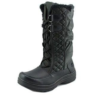 Totes Jami Women W Round Toe Synthetic Black Winter Boot