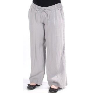 Womens Gray Wide Leg Pants Size 14