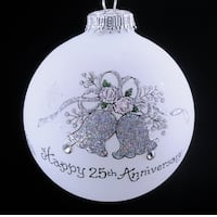 25th Anniversary Bells Ornament