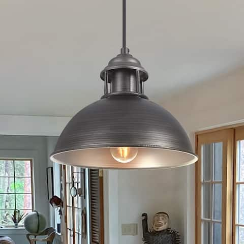 OYIPRO-Modern Industrial Style One Light Dome Pendant Light