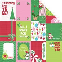"Jingle - Mint Twist Double-Sided Paper 12""X12"" (20/Pack)"