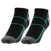 Women Quarter Stockings Cushioned Casual Outdoor Sport Ankle Socks Teal Pair