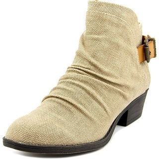 Blowfish Seastie Women Round Toe Canvas Tan Ankle Boot