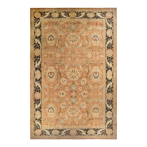 """Mogul, One-of-a-Kind Hand-Knotted Area Rug - Brown, 12' 0"""" x 18' 6"""" - 12' 0' x 18' 6'"""