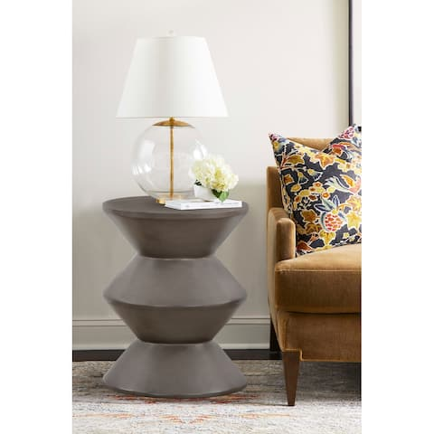 Lizzie Concrete Indoor Outdoor Accent Stool End Table