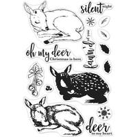 "Hero Arts Clear Stamps 4""X6""-Color Layering Fawn"
