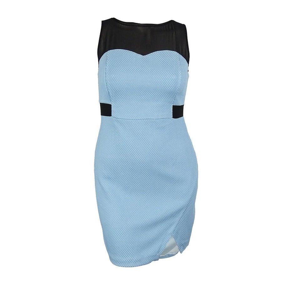 Kensie Women/'s Illusion Textured Dress