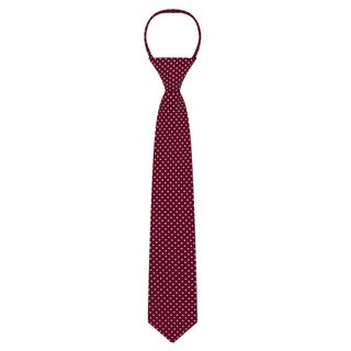 "Jacob Alexander Polka Dot Print Boys 14"" Polka Dotted Zipper Tie"