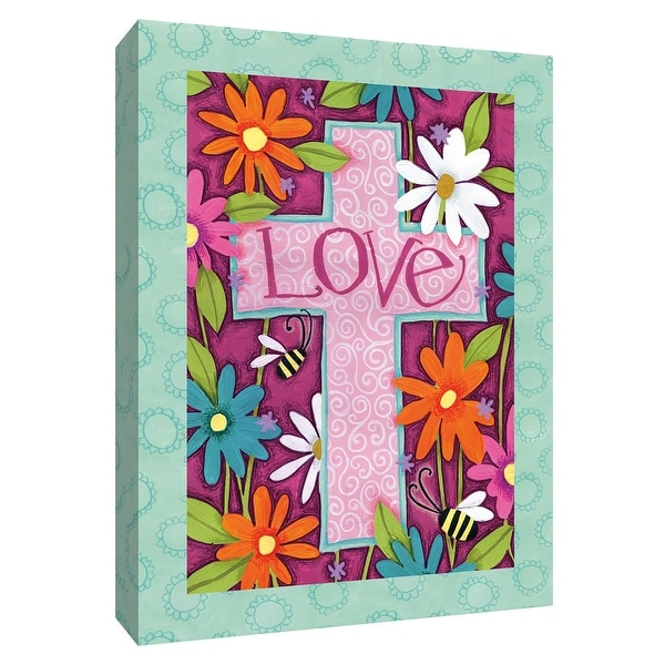 """PTM Images 9-154495 PTM Canvas Collection 10"""" x 8"""" - """"Love Cross"""" Giclee Christian Art Print on Canvas"""