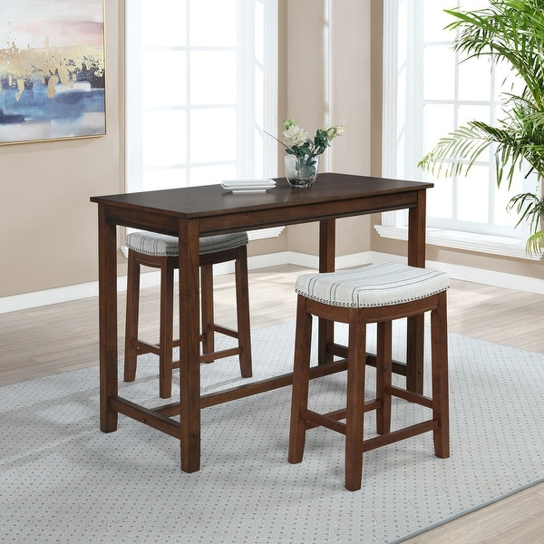 """Bridgeport 36 inch Counter Height Pub Table - 27.25""""w x 23.75""""d x 36""""h. Opens flyout."""