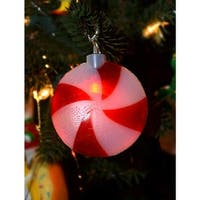 Battery Operated LED Musical Peppermint Twinkling Christmas