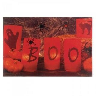 Boo Halloween Led Wall Art - N/A