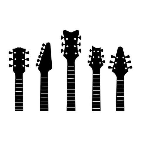 Guitar Necks Wall Decal for Boys Nursery