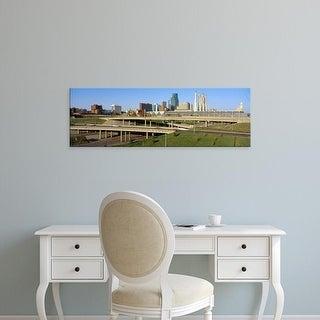Easy Art Prints Panoramic Images's 'Skyline, Kansas City, Missouri' Premium Canvas Art