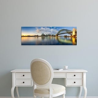 Easy Art Prints Panoramic Image 'Sydney Harbour Bridge and skylines, Sydney, New South Wales, Australia' Canvas Art