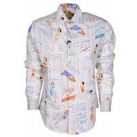 Robert Graham Classic Fit Get Well Pin Up Girls Limited Edition Sport Shirt