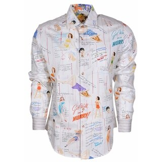 Robert Graham Classic Fit Get Well Pin Up Girls Limited Edition Sport Shirt