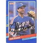 Jeff Huson Texas Rangers 1991 Donruss Autographed Card  This item comes with a certificate of authe