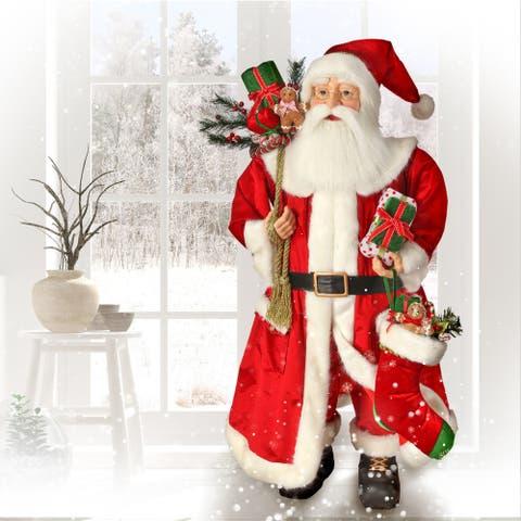 "52"" Candy Kitchen Santa W/Sack & Stocking"