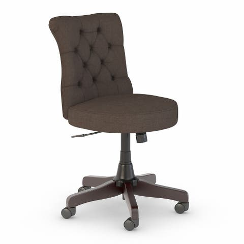 Cottage Grove Mid Back Tufted Office Chair by Bush Furniture