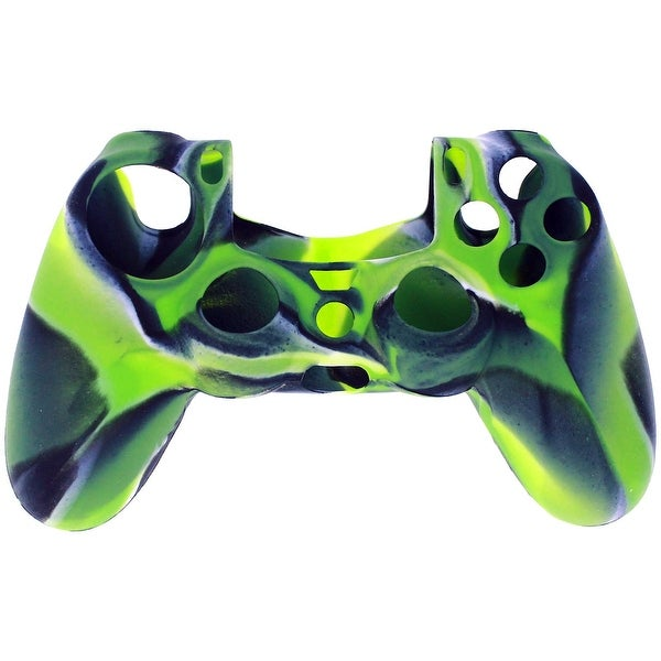 For Sony Play Station 4 PS4 Video Game Controller Camouflage Soft Silicon Case Gel Rubber Sleeve GREEN Cover
