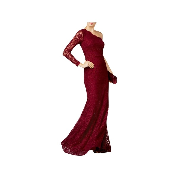 7c5aaeacd245 Shop Xscape Womens Evening Dress One Shoulder Glitter - Free Shipping Today  - Overstock - 23376685