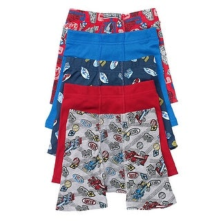 Hanes Toddler Boys' Printed Boxer Briefs with Comfort Flex Waistband 5-Pack