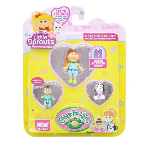 Little Sprouts 4-Pack Friends Set w/ Sydney Rose, Jilian Barbara & Oliver - Multi