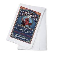 Crawfish - Vintage Sign - Lantern Press Artwork (100% Cotton Towel Absorbent)
