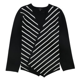 Link to Alfani Womens Striped Open Front Cardigan Sweater Similar Items in Women's Sweaters