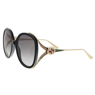 GUCCI GG0226S 001 Black Oversized Round Sunglasses