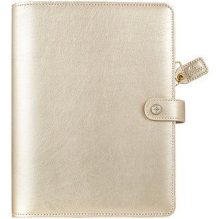 """Color Crush A5 Faux Leather 6-Ring Planner Binder 7.5""""X10""""-Champagne"""