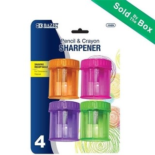 Bazic BAZIC Single Hole Sharpener w/ Round Receptacle (4/pack)