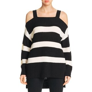 Sanctuary Womens Tunic Sweater Off-The-Shoulder